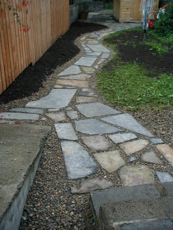 2.1 curved path with crazy paving
